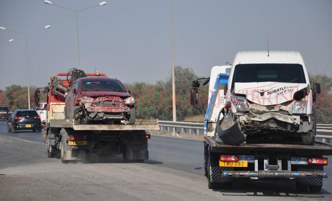 11 kazada 40 araç zarar gördü
