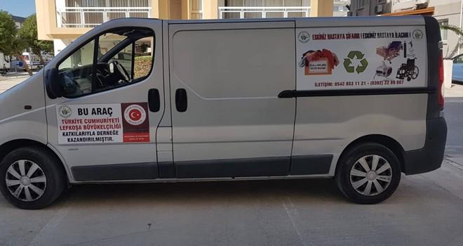 TC Lefkoşa Büyükelçiliği'nden, Kanser Hastalarına Yardım Derneği'ne araç bağışı