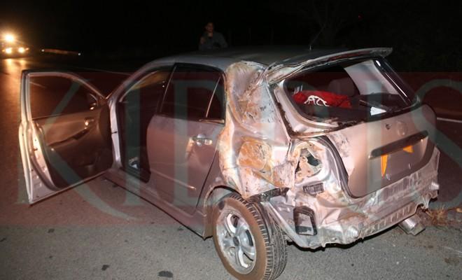 Mağusa'da kaza: İki ağır yaralı
