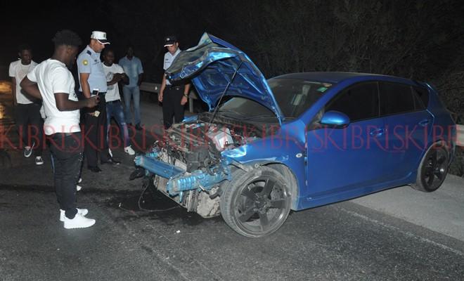Sürücü yara almadan kurtuldu