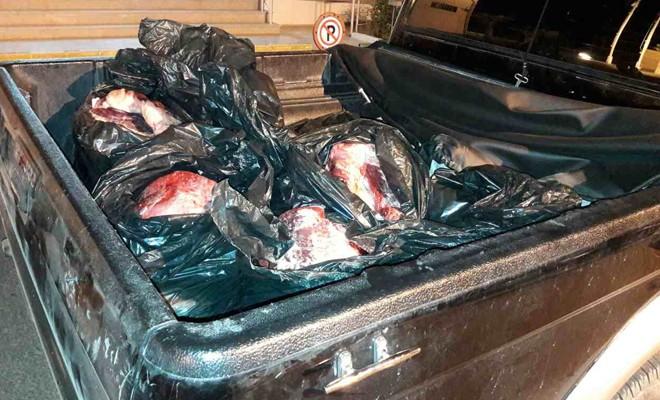 300 kilo sığır eti imha edildi