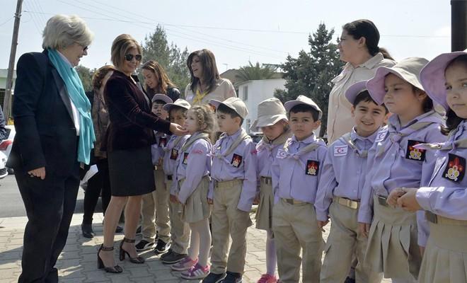 Meral Akıncı Güner Nejat Kız İzci Tesisleri'nin açılışını yaptı