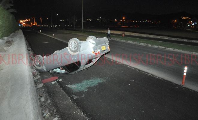 Kuzucu, kazayı ucuz atlattı