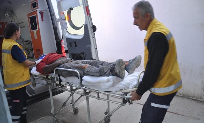 Yine iş kazası: Sıva yaparken düştü