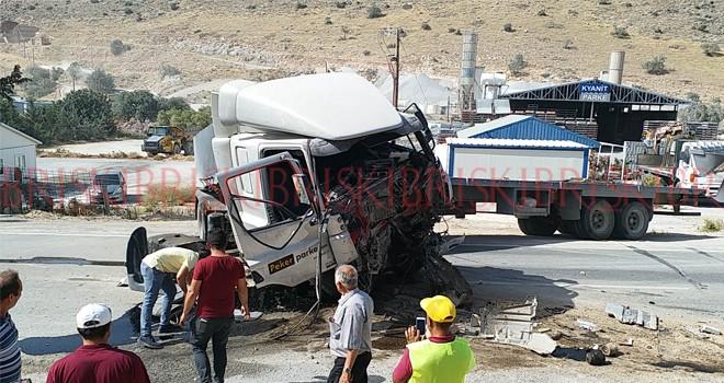 Dağ yolunda korkutan kaza: 1 kişi yaralı