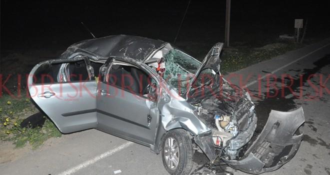 Dikmen'de korkutan kaza; 1 yaralı