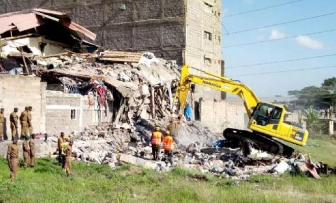 Kenya'da 5 katlı bina çöktü: 7 ölü
