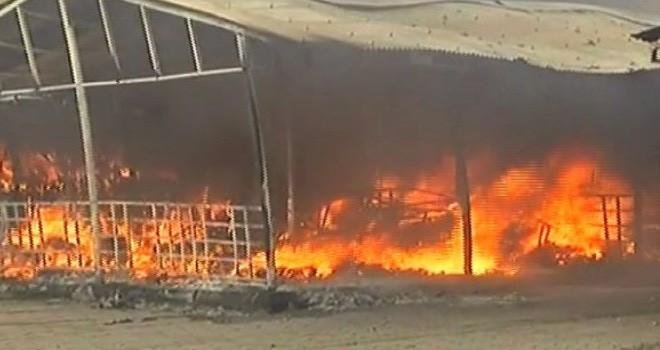 100'den fazla tezgah yandı
