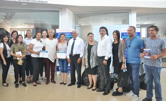 Kanser hastaları için Güzelyurt'ta kampanya başlatıldı