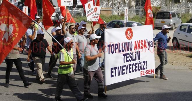 Zamları ve KIB-TEK'e yatırım yapılmamasını protesto ettiler