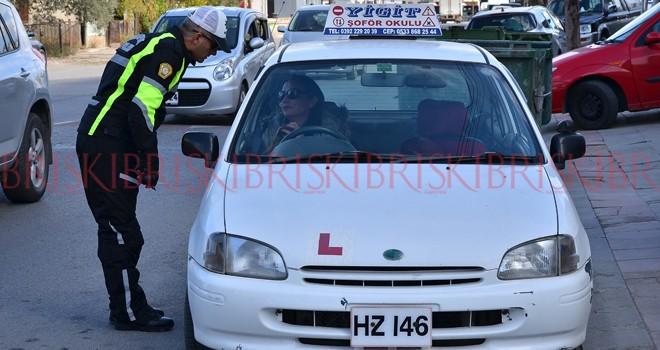Şoför okulları da denetlendi