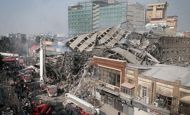 İran'da çöken bina nedeniyle en az 20 itfaiyeci öldü
