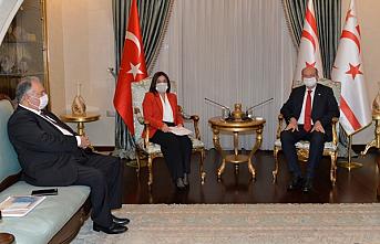 Tatar, BRTK Yönetim Kurulu Başkanı Kanlı ve BRTK Müdürü Özkurt'u kabul etti