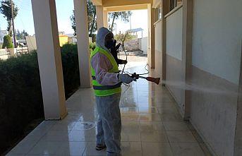 İskele Belediyesi okullarda dezenfekte çalışması yaptı