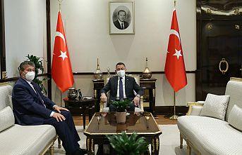 TC Cumhurbaşkanı Yardımcısı Oktay, KKTC Sağlık Bakanı Üstel'i kabul etti
