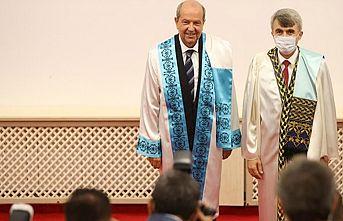 """Cumhurbaşkanı Tatar'a Kütahya'da """"Fahri Doktora"""" unvanı verildi"""