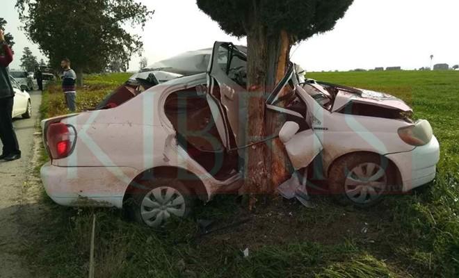 Ercan – Gaziköy yolunda feci kaza: 1 ölü