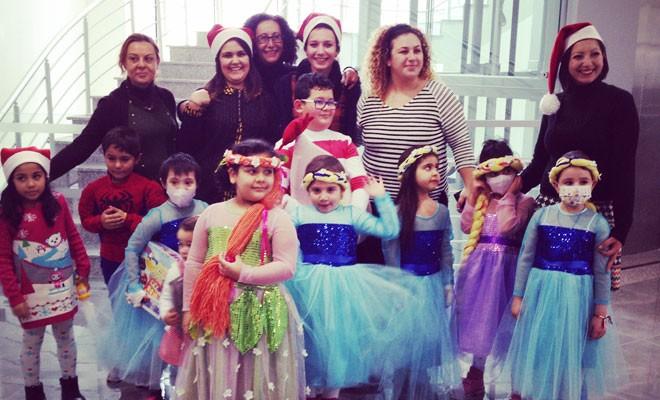 Çocuk Onkoloji Servisi'nde yeni yıl partisi düzenlendi