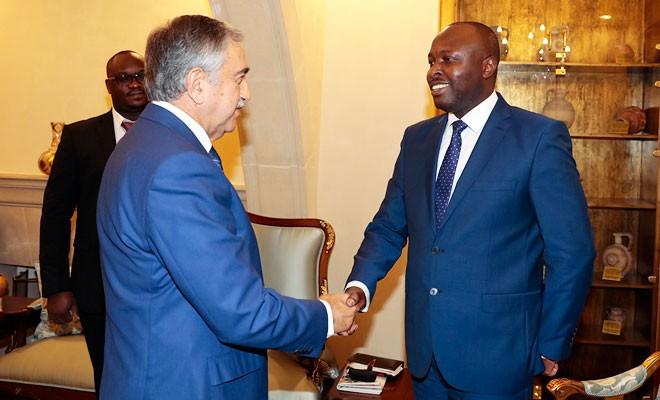 Akıncı, Uganda büyükelçisini kabul etti