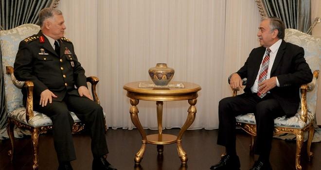 Akıncı, TC Genelkurmay 2. Başkanı Dündar'ı kabul etti