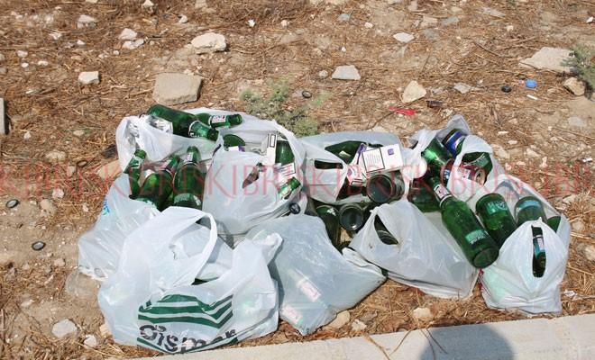 İçki içip, çöplerini orada bırakıyorlar
