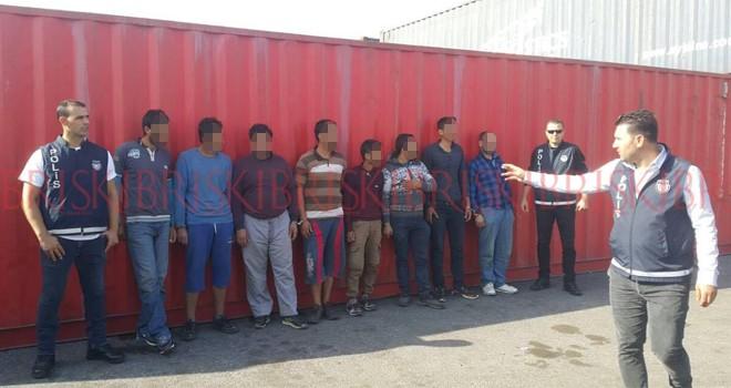 Mağusa Limanı'nda 9 mülteci yakalandı
