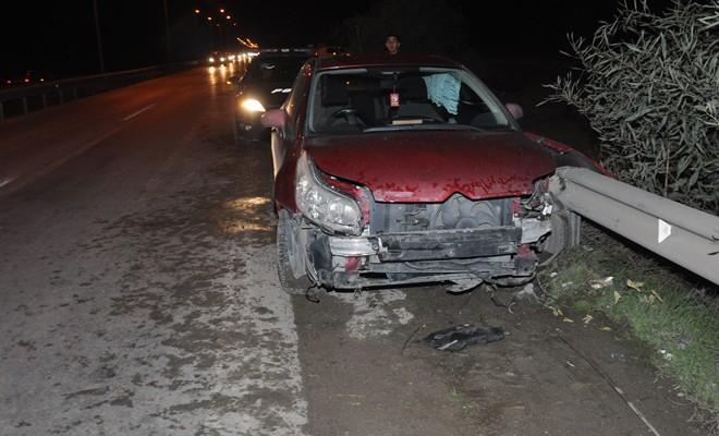 Genç sürücü hafif yaralandı