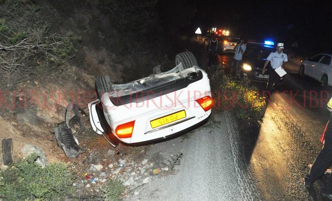 Yine dağ yolu yine kaza!