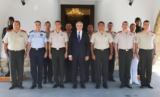 GKK komutanından Akıncı'ya 1 Ağustos ziyareti