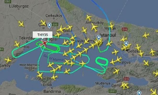 THY uçağı İstanbul üzerinde 7 saat 22 dakika dolaştıktan sonra inebildi