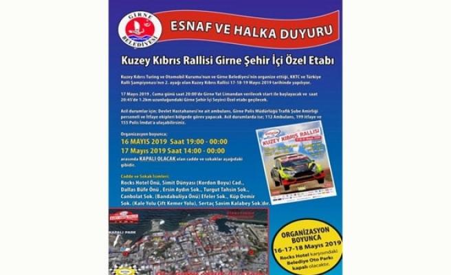 Girne'de bazı yollar yarın trafiğe kapatılacak