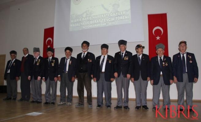 Afyonkarahisar'da 133 Kıbrıs gazisine madalya takdimi