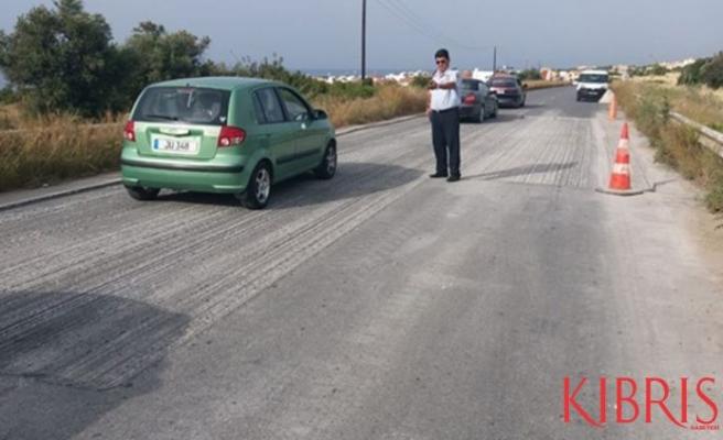Girne - Esentepe anayolunda yol tamir çalışması var!