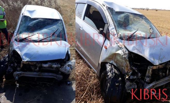 Lefkoşa-Gazimağusa yolunda feci kaza!