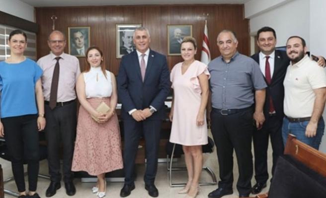 Amcaoğlu, Kıbrıs Türk Televizyonları Birliği heyetiyle görüştü
