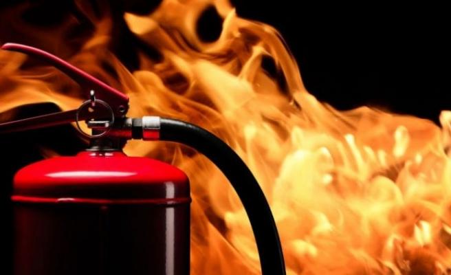 Baf Ormanı'nda yıldırım düşmesi sonucu yangın çıktı