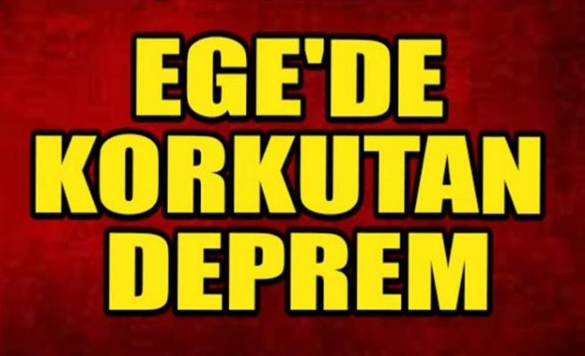 Ege'de 4 saatte 56 deprem oldu