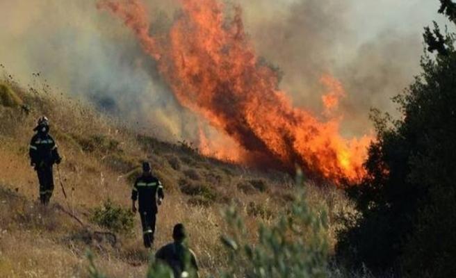 Limasol'da malya yakınlarında yangın