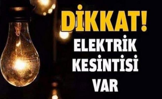 Yarın bu bölgelerde elektrik kesintisi var!