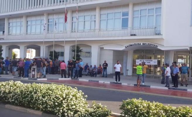 Mağusa Belediyesi'nde grev: Artık sabrımız kalmadı