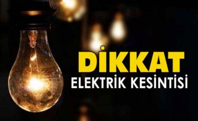 Bazı bölgelerde yarın 6 saat elektrik yok!