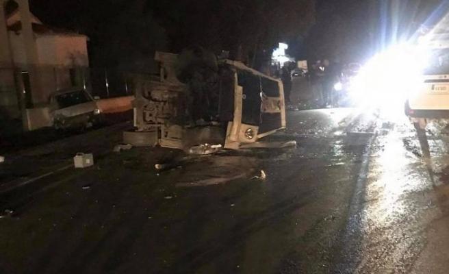 Gazimağusa'da kaza, 3 yaralı