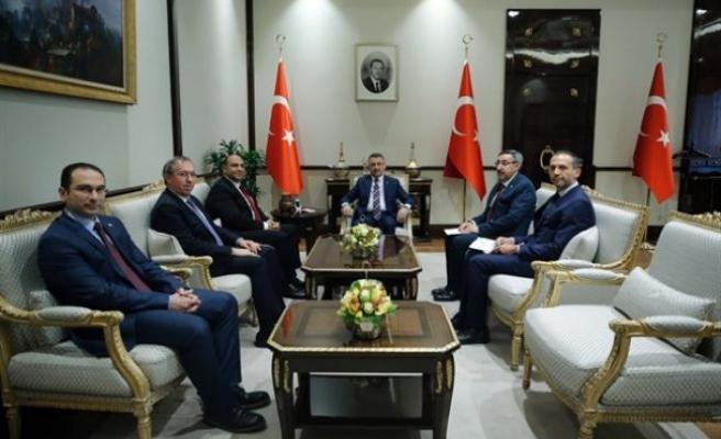 Atakan, TC Cumhurbaşkanı Yardımcısı Oktay'la görüştü