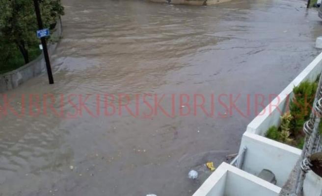 Yağışlı hava Gazimağusa'da etkili oldu