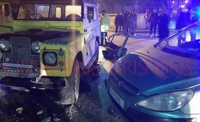 Gazimağusa Maraş bölgesinde kaza: 1 yaralı