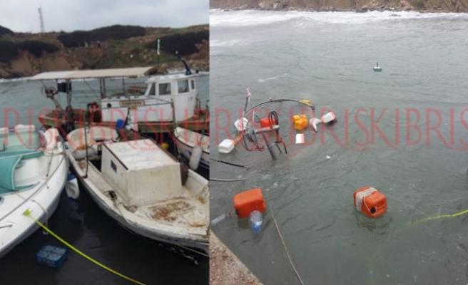 Şiddetli hava koşulları tekneyi batırdı