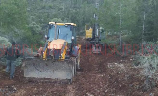 Boru hattını tamir etmek için doğa tahrip edildi