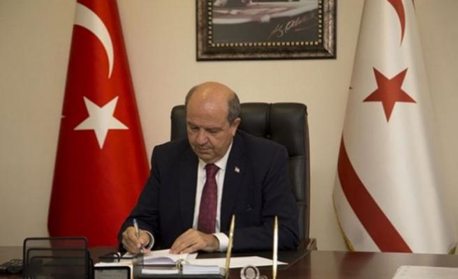 Tatar, Erdoğan, Oktay ve Akar'a taziye mesajı gönderdi