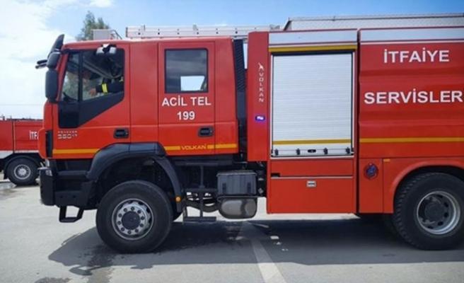 Girne'de bir işletmede yangın çıktı