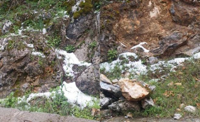 Selvilitepe'ye kar yağdı